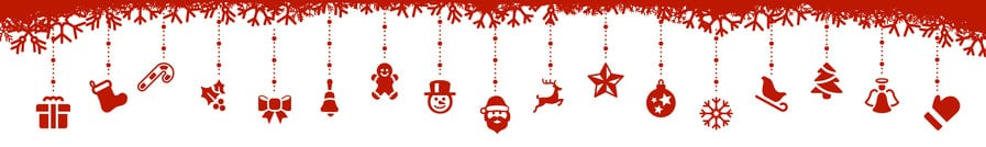 red christmas elements dekoration icons